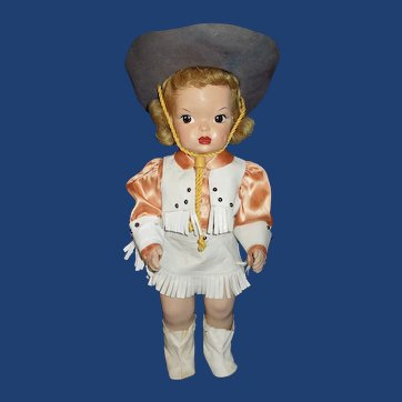 Vintage Terri Lee doll cowgirl costume, not doll