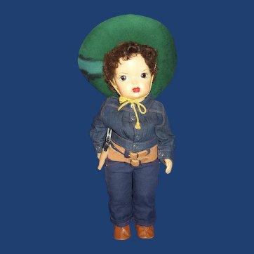 """Vintage 16"""" Terri Lee Jerri Lee Pat. Pending In Cowboy attire"""