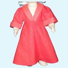 """Vintage 16"""" Terri Lee doll red house coat or robe"""