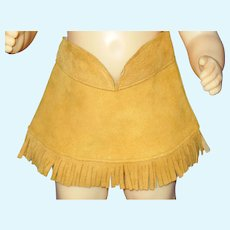 "Vintage 16"" Terri Lee doll buckskin fringed skirt"