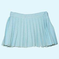 """Vintage 16"""" Terri Lee doll blue gaberdine pleated skirt"""