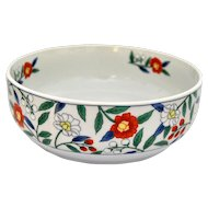 Luxury Mid-century Hachi-Bowl, Japanese Serving Dish, White Floral Porcelain Tabletop, Serveware