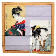 Bijinga Oiran Handkerchief Tenugui Japanese Patterns Symbols
