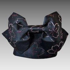 Black Kimono Obi Sash Belt