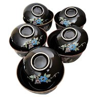 Chakaiseki Japanese Lidded Bowls, Set of 10