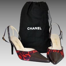 Chanel Ankle Wrap Pump Shoes with Dust bag