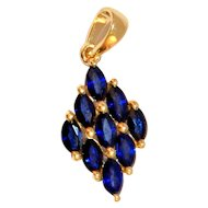 Ceylon Blue Sapphire Pendant 1.55 ct Jewelry