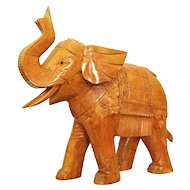 Elephant Statue, Trunk up, Animal Sculpture, Indian, Asian