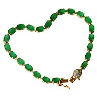 Natural Emerald 14K Gold Bracelet