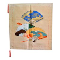 Silk Painted Brocade Japanese Fukusa Tapestry Tea Ceremony Mat