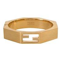 Fendi Cuff Bracelet Baguette FF Logo with Box Label Size M