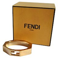 Fendi Baguette Cuff Bracelet with Original Designer Box