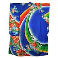 Japanese Silk Long Sleeve Kimono Floral