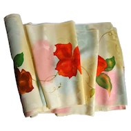 Floral Silk Rinzu Japanese Fabric Bolt for Drapery, Upholstery, Clothing