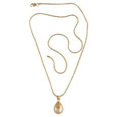 Golden South Sea Pearl 14K Necklace