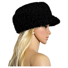 Astrakhan Karakul Lamb Wool headwear Bespoke Hand Crafted Fedora Hat Cap