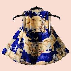 Japanese Silk Kimono Vest for Children, Traditional Asian Clothing