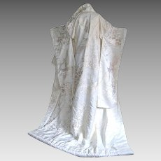 Japanese Bridal Kimono, Silk Embroidery, Traditional, Wedding Dress