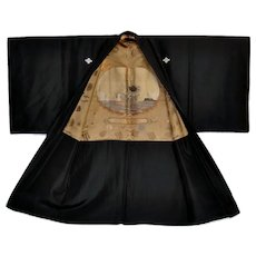 Art Kimono Military War Medals Propaganda Battleship Peace of Shanga 1937