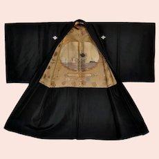 Kimono 1937 Military War Medals Propaganda Battleship Peace of Shanga