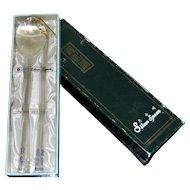 Pure Silver Korean Spoon and Chopsticks Set Unused 999 Purity 1945-present