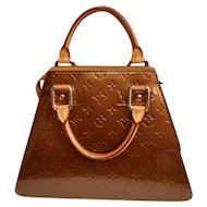 Louis Vuitton Handbag, Forsyth Monogram Vernis Bronze Leather Tote