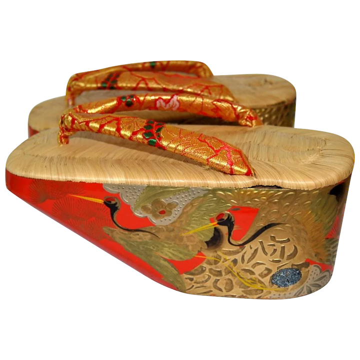 6835448bb42d2 Japanese Maiko Okobo Sandals