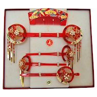Maiko Japanese Kanzashi Set, Geisha Hair Ornament