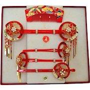 Maiko Japanese Kanzashi Set, Geisha Hair Ornament