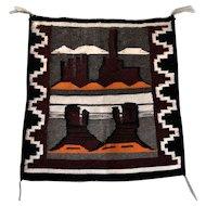 Navajo Handwoven Pictorial Rug, Native American Tapestry