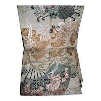 Nishijin Silk Obi with Mythical Japanese Phoenix Ho-o