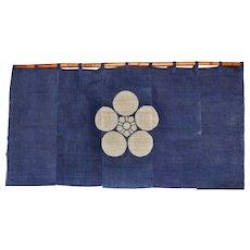 Samurai Hemp Noren Curtain, Japanese Panels, Window Dressing