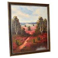 Flowery Meadow Oil Painting, Western American Art, Signed