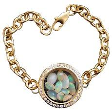 Natural Opal Loose Gems in Locket Bracelet