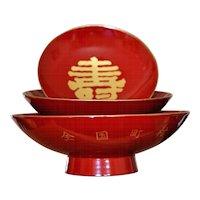 Japanese Lacquer Sake Tea Holder Cup Set Ceremonial Sakazuki Shuki