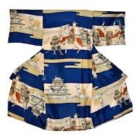 Kimono Samurai Minamoto Clan Silk Outfit for Boys