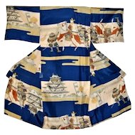Samurai Minamoto Clan Silk Kimono for Boys