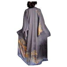 Japanese Silk Kimono, Tomesode, Traditional Robe