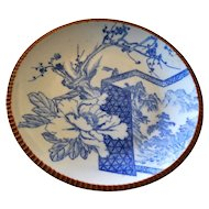 Sometsuke Blue White Meiji Pottery Charger Platter