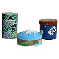 Mount Fuji, Tsubaki, Japanese Tea Canisters Set of 3