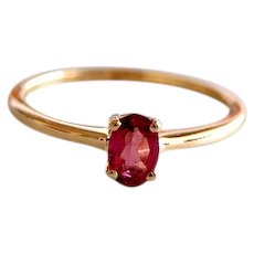 Untreated Pink Tourmaline Solitaire Ring 0.43ct