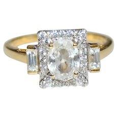 Natural Gem Zircon 2.56 ct Engagement Ring