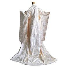Japanese Wedding Kimono Uchikake, Nishiki Silk Brocade