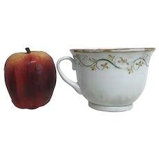 18th Century or Earlier Murano Lattimo Milk Glass Cup With Applied Handle