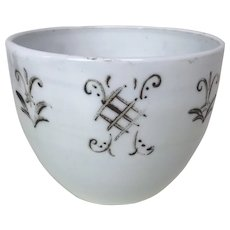 18th Century or Earlier Murano Lattimo Milk Glass Bowl Red Decoration