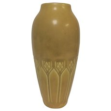 Circa 1920 Rookwood Pottery Vase in Yellow Mustard Glaze