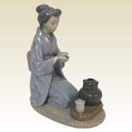 "1982 Lladro # 5122 ""Tea in August Moon"" Retired 1993"