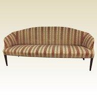 Circa 1800 Narrow Hepplewhite Upholstered Sofa