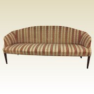 Circa 1800 Narrow Hepplewhite Upholstered Sofa