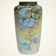 "Vintage Bareuther Waldsassen Bavarian Hand Painted Flowers Signed Vase 12"""